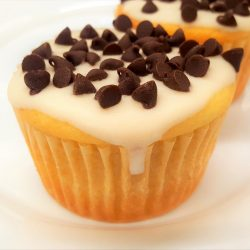 Clean Cupcake with mini dark chocolate chips