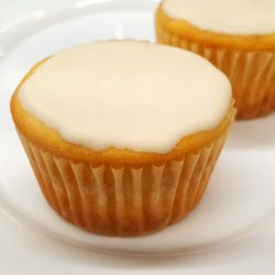 Clean Cupcake with plain vanilla rum drizzle