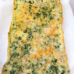 Healthy Bake (half-dish size)-Egg Bake with ground turkey and spinach